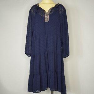 Daniel Rainn | Blue 3/4 sleeve Lace Dress L